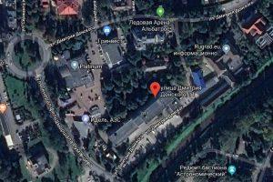 Карта улица Д. Донского, дом 11, ОФИС 110